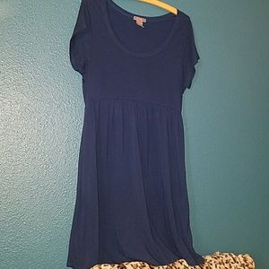 So Sik Navy Blue dress. Size large.